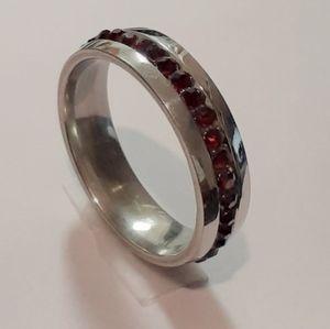 Dark Red Stone Unisex [Ring]